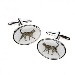 【送料無料】メンズアクセサリ― カフリンクスtabby cat cufflinks