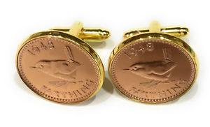 【送料無料】メンズアクセサリ― 751943ファージングコインカフスリンク 751943ゴールドカフスリンク75th birthday 1943 farthing coin cufflinks 75th 1943 gold plated cufflinks