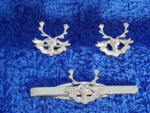 【送料無料】メンズアクセサリ― シーフロントカフリンクタイグリップクリップセットseaforth highlanders cuff link and tie grip clip gift set