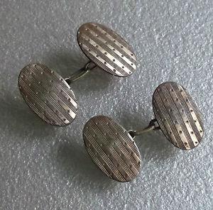 【送料無料】メンズアクセサリ― ビンテージメンズカフリンクスアールデコcufflinks vintage mens cuff links art deco traditional 1930s 1940s 1950s
