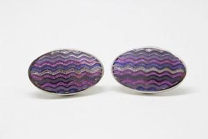 【送料無料】メンズアクセサリ― トーマスピンクシルバーカフスボタンthomas pink oval purple and silver cufflinks rrp 59bnwot wedding groom gift
