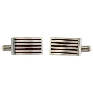 【送料無料】メンズアクセサリ― ステンレスカフスリンクmens cufflinks in stainless steel rectangular design