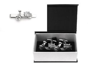 Lambretta Scooter Cufflinks Pewter Gift Boxed or Pouched Vehicle Gift