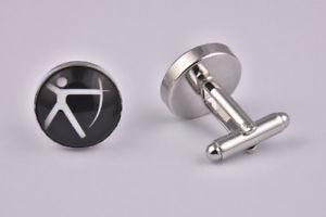 【送料無料】メンズアクセサリ― オリンピックアーチェリーカフスリンクolympic archery cufflinks