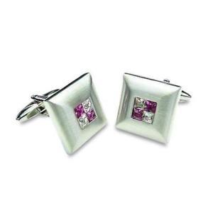 【送料無料】メンズアクセサリ― 4カフスリンク2purple crystal four square cufflinks