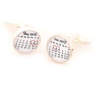 【送料無料】メンズアクセサリ― パーソナライズカフリンクスpersonalised special date cufflinks free pamp;p