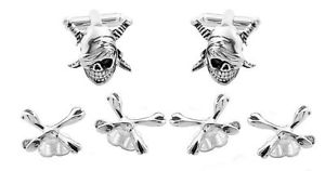 【送料無料】メンズアクセサリ― カフスボタンスタッドメーカーダイレクトskull and bones cufflinks and studs manufacturers direct pricing