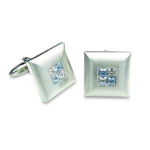 【送料無料】メンズアクセサリ― 4カフスリンク2blue crystal four square cufflinks