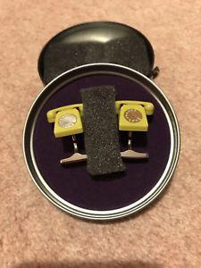 【送料無料】メンズアクセサリ― テッドベーカーライムグリーンカフスボタン