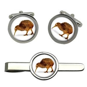【送料無料】メンズアクセサリ― キーウィラウンドタイクリップセットkiwi round cufflink and tie clip set