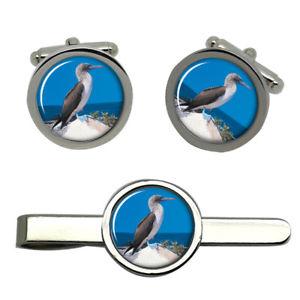 【送料無料】メンズアクセサリ― ブービータイクリップセットbooby bird round cufflink and tie clip set