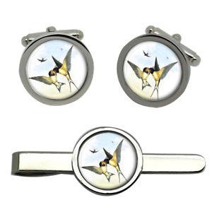 【送料無料】メンズアクセサリ― スワローズラウンドタイクリップセットswallows round cufflink and tie clip set