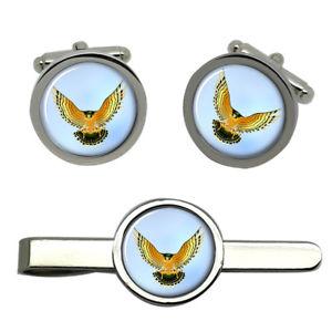 【送料無料】メンズアクセサリ― タイクリップセットfalcon round cufflink and tie clip set