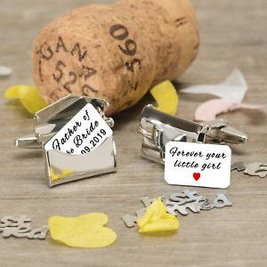 【送料無料】メンズアクセサリ― パーソナライズカフリンクスpersonalised envelope father of bride wedding cufflinks always your little girl