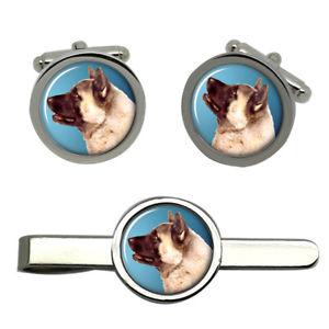 【送料無料】メンズアクセサリ― タイクリップセットakita dog round cufflink and tie clip set