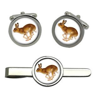【送料無料】メンズアクセサリ― ラウンドタイクリップセットhare round cufflink and tie clip set