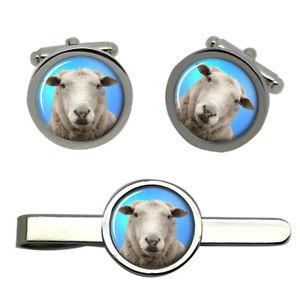 【送料無料】メンズアクセサリ― タイクリップセットsheep round cufflink and tie clip set