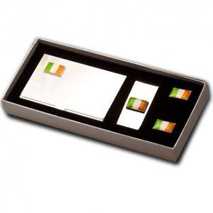 【送料無料】メンズアクセサリ― アイルランドカフスボタンセットirish flag cufflinks gift set