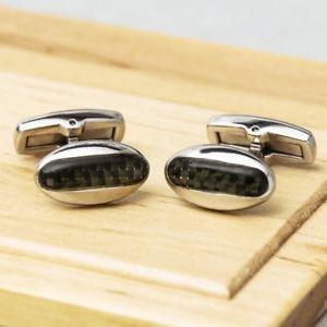 【送料無料】メンズアクセサリ― カフリンクスcarbon reflections cufflinks