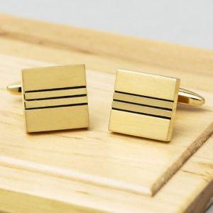 【送料無料】メンズアクセサリ― カフスボタンゴールドエディションsquare river cufflinks gold edition