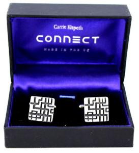 【送料無料】メンズアクセサリ― キャリーメタルカフスボタンクリスマスcarrie elspeth metal cufflinks birthday fathers day graduation christmas gift
