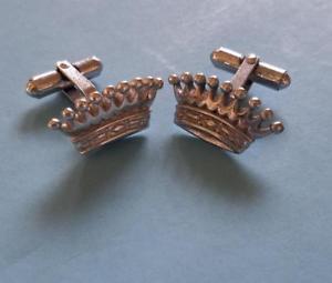 【送料無料】メンズアクセサリ― クラウンカフリンクダブルスタンプフレンチカフスカフスメンズアクセサリー1950s crown cuff links stamped cw french cuffs double cuffs mens accessories