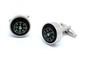 【送料無料】メンズアクセサリ― ボックスコンパスカフリンクスworking compass 3d cufflinks in gift box