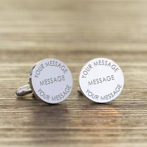 【送料無料】メンズアクセサリ― メッセージパーソナライズカフリンクスany message personalised cufflinks