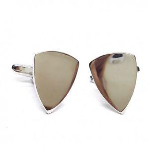 【送料無料】メンズアクセサリ― シールドカフリンクスpersonalised shield cufflinks