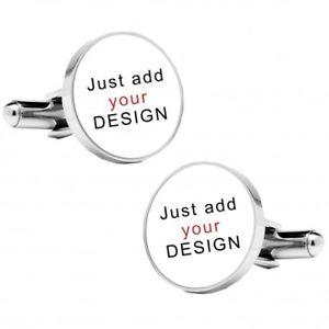 【送料無料】メンズアクセサリ― デザインカフリンクスロゴカフスボタンパーソナライズラウンドカフリンクスany design cufflinks logo cufflinks personalised round cufflinks