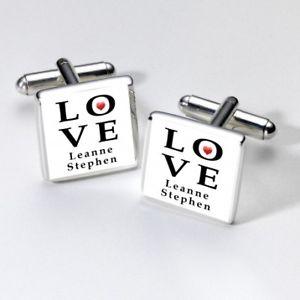 【送料無料】メンズアクセサリ― loveカフスリンクpersonalised love cufflinks
