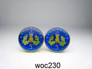 【送料無料】メンズアクセサリ― エナメルコインカフリンクスパターンペンスbritish enamelled coin cufflinks 5 pence choice of pattern