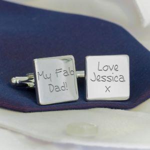 【送料無料】メンズアクセサリ― パーソナライズカフリンクスmy fab dad personalised cufflinks