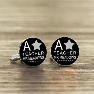 【送料無料】メンズアクセサリ― パーソナライズカフリンクスa star personalised teacher cufflinks