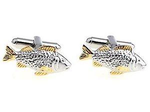 【送料無料】メンズアクセサリ― カフリンクteroon cuff links fish