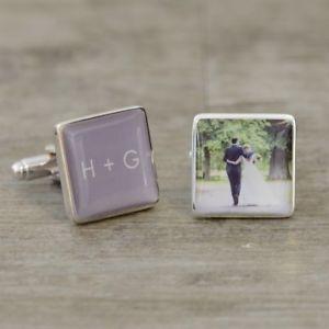 【送料無料】メンズアクセサリ― イニシャルカフスボタンパーソナライズカフリンクスinitials and photo cufflinks personalised cufflinks