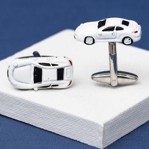 【送料無料】メンズアクセサリ― スポーツカーカフスリンクwhite sports car cufflinks