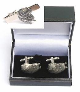 【送料無料】メンズアクセサリ― ミズハタネズミカフスボタンタイクリップバーワイルドライフスライドセットwater vole cufflinks amp; tie clip bar slide set wildlife gift