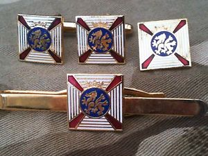 【送料無料】メンズアクセサリ― エディンバラカフスボタンバッジネクタイクリップセットデュークduke of edinburgh cufflinks, badge, tie clip gift set