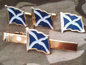 【送料無料】メンズアクセサリ― スコットランドスコットランドカフスボタンバッジネクタイクリップセットscottish flag scotland cufflinks, badge, tie clip gift set