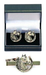 【送料無料】メンズアクセサリ― ヘッドシューカフスボタンタイクリップバーメンズスライドセットhorse head shoe cufflinks amp; tie clip bar slide mens gift set equestrian present