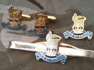 【送料無料】メンズアクセサリ― ロイヤルカフスボタンバッジネクタイクリップセットroyal army pay corps cufflinks, badge, tie clip gift set