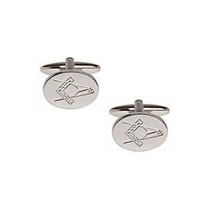 【送料無料】メンズアクセサリ― カフリンクスmasonic oval shape cufflinks with swivel fittings