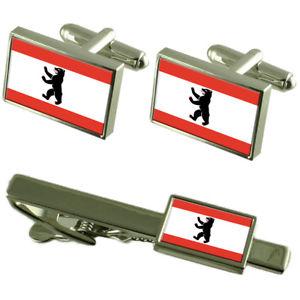 【送料無料】メンズアクセサリ― ベルリンドイツカフスボタンタイクリップボックスセットberlin germany flag cufflinks tie clip box gift set