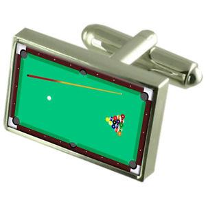【送料無料】メンズアクセサリ― プールテーブルカフスボタンメッセージボックスpool table cufflinks engraved message box