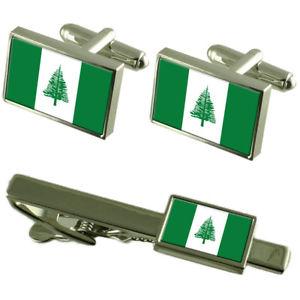 【送料無料】メンズアクセサリ― ノーフォークカフスボタンタイクリップマッチングボックスセットnorfolk island flag cufflinks tie clip matching box gift set