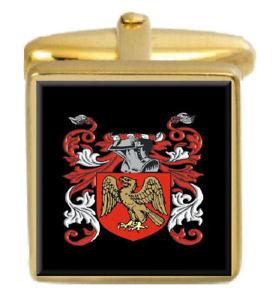 【送料無料】メンズアクセサリ― トラフトンイングランドカフスボタンボックスコートtrafton england family crest surname coat of arms gold cufflinks engraved box