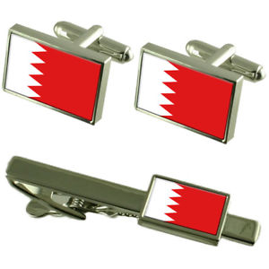【送料無料】メンズアクセサリ― バーレーンカフスボタンタイクリップマッチングボックスセットbahrain flag cufflinks tie clip matching box gift set
