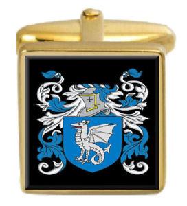 【送料無料】メンズアクセサリ― ブライアイルランドカフスボタンボックスコートbligh ireland family crest surname coat of arms gold cufflinks engraved box