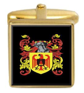 【送料無料】メンズアクセサリ― フランシスイングランドカフスボタンボックスコートfrancis england family crest surname coat of arms gold cufflinks engraved box